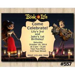 Book of Life Invitation | Maria Posada and Manolo