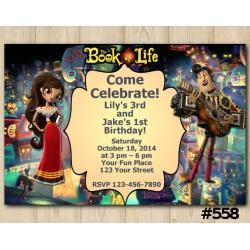 Twin Book of Life Invitation   Maria Posada and Manolo