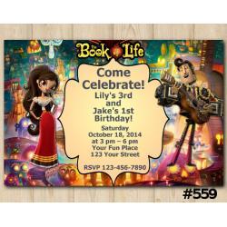 Twin Book of Life Invitation | Maria Posada and Manolo
