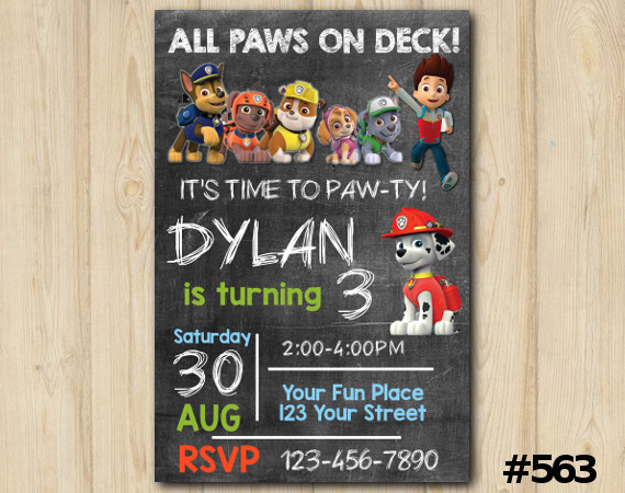 Paw Patrol Invitation | Personalized Digital Card