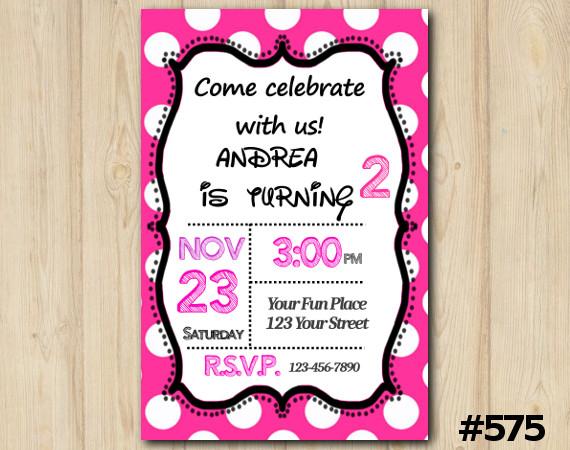 Girls Invitation | Personalized Digital Card