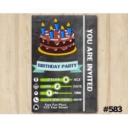 Chalkboard Cake Invitation