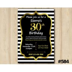 Adult Stripe Invitation
