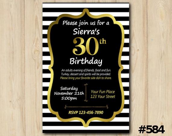 Adult Stripe Invitation | Personalized Digital Card