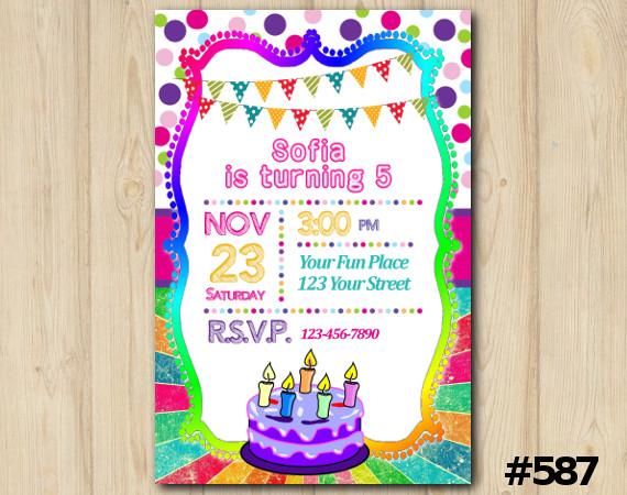 Cake Invitation | Personalized Digital Card
