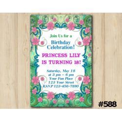 Floral Birthday Invitation