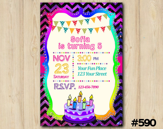 Cake Invitation | Personalized Digital Card