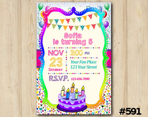 Cake Invitation   Personalized Digital Card