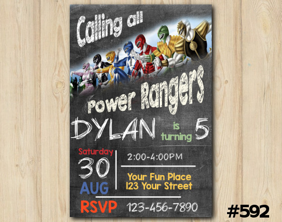 Power Rangers Invitation | Personalized Digital Card