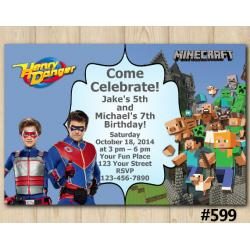 Twin Henry Danger and Minecraft Invitation
