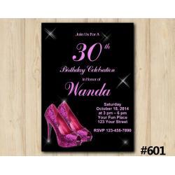 Adult Pink Shoe Invitation