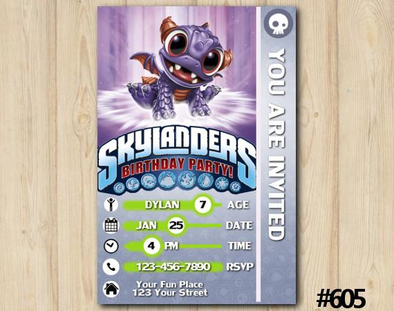 Skylanders Spry Game Card Invitation | Spry | Personalized Digital Card