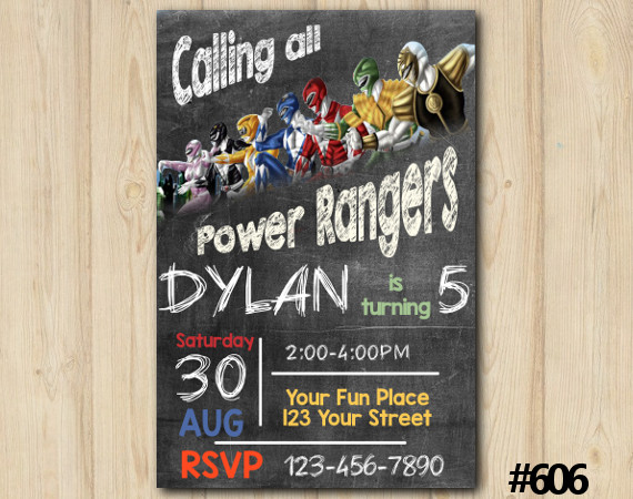 Power Rangers Invitation | Personalized Digital Card
