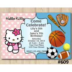 Twin Sport and Hello Kitty Invitation