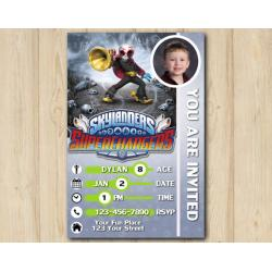 Skylanders Superchargers Photo Game Card Invitation with Photo | Fiesta