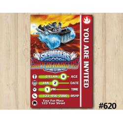 Skylanders Spitfire Superchargers Game Card Invitation | Spitfire