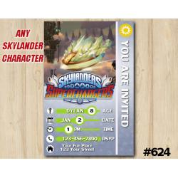 Skylanders Superchargers Game Card Invitation | Astroblast