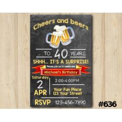 Adult Cheers and Beers Invitation