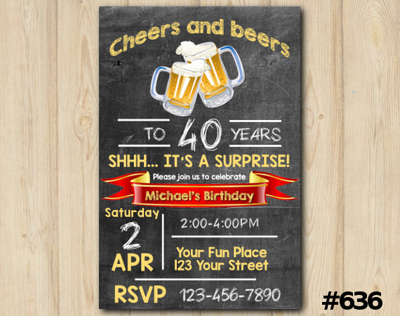 Adult Cheers and Beers Invitation | Personalized Digital Card