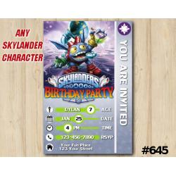 Skylanders Popfizz Game Card Invitation | PopFizz