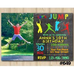 Jump Invitation with Photo