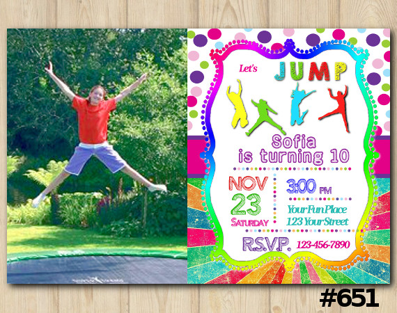 Jump Invitation with Photo | Personalized Digital Card
