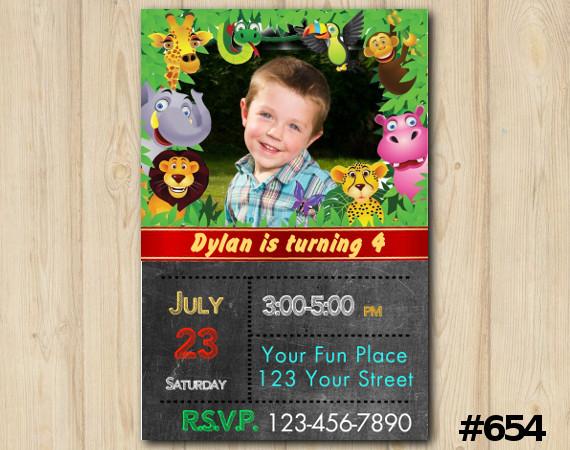 Jungle Invitation with Photo | Personalized Digital Card
