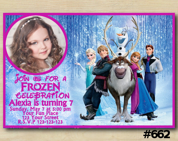 Frozen Invitation with Photo | Personalized Digital Card