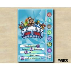 Skylanders Trap Team Game Card Invitation
