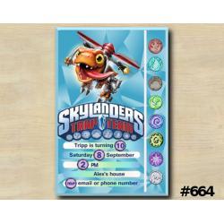 Skylanders Trap Team Game Card Invitation | Choopper