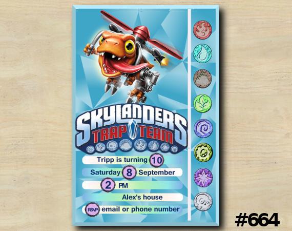 Skylanders Trap Team Game Card Invitation | Choopper | Personalized Digital Card