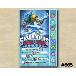 Skylanders Game Card Invitation | Snapshot