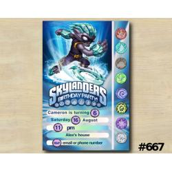 Skylanders Game Card Invitation | FreezeBlade