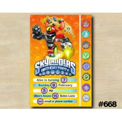 Skylanders Game Card Invitation | MagnaCgarge