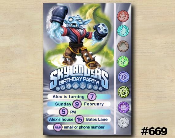 Skylanders Game Card Invitation | NightShift | Personalized Digital Card