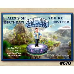 Skylanders Invitation with Photo