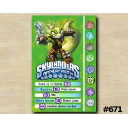 Skylanders Game Card Invitation | StinkBomp