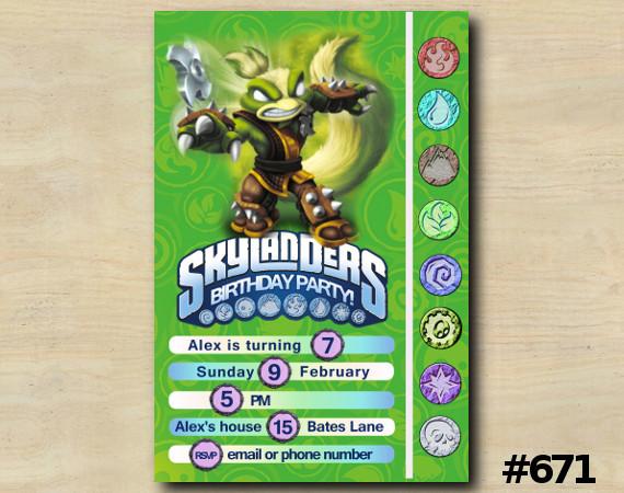 Skylanders Game Card Invitation | StinkBomp | Personalized Digital Card