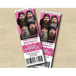 Duck Dynasty Pink Ticket Invitation