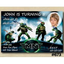 TMNT Invitation with Photo