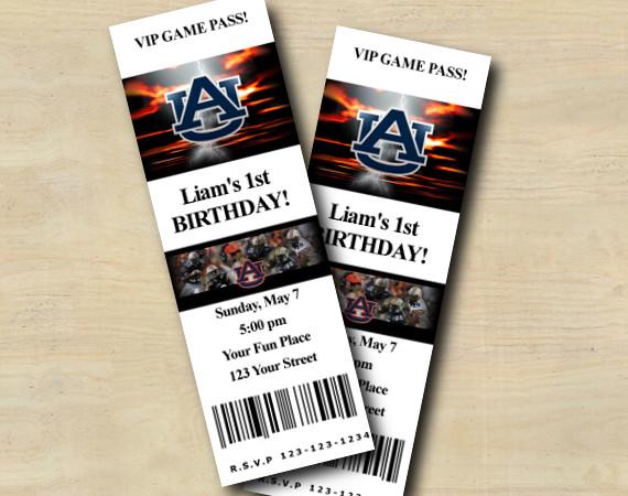 Auburn Ticket Invitation | Personalized Digital Card