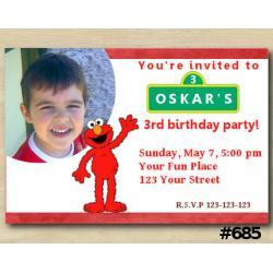 Elmo Invitation with Photo