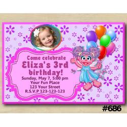 Abby Cadabby Invitation with Photo