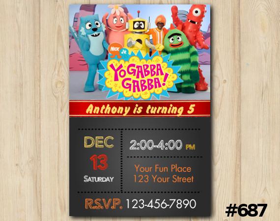 Yo Gabba Gabba Invitation | Personalized Digital Card