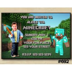 Minecraft Invitation with Photo
