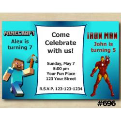 Twin Minecraft and Ironman Invitation