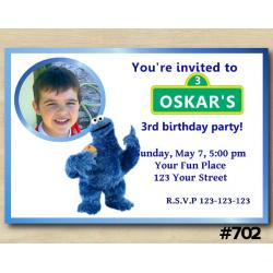Cookie Monster Invitation with Photo