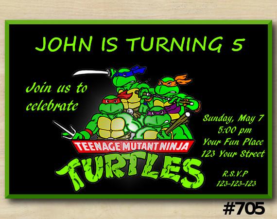 TMNT Invitation   Personalized Digital Card