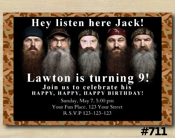 Duck Dynasty Invitation with Photo | Personalized Digital Card