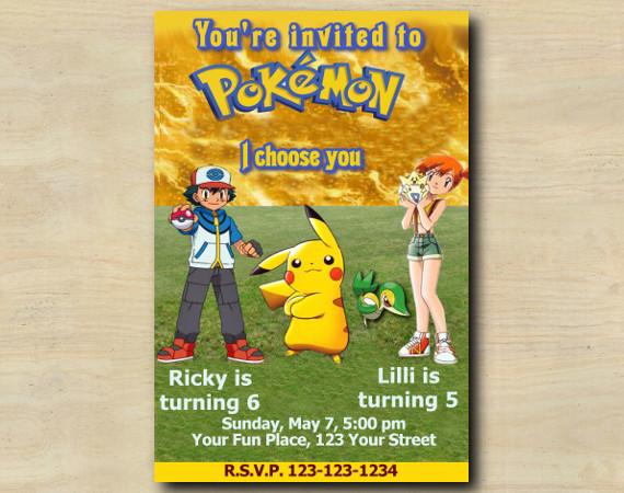 Pokemon Invitation | Personalized Digital Card